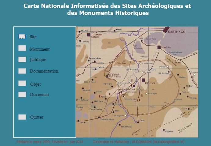 Data base carte archéologique